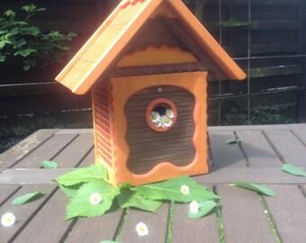 Handmade garden birdhouse