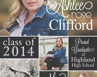 Printable Graduation Announcement with Photos