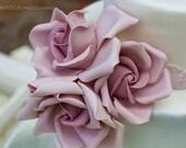 XL Sugar Rose (Bouquet of 3, 3.5-4 inch) , gumpaste flower for cake decorating.