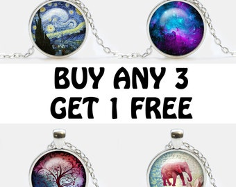 Pendants Sale, Buy 3 Pendants Get One Free, Necklace Sale, Jewelry Discount, gift for family, gifts for friends, discount