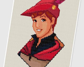 PDF Cross Stitch pattern - 0206.Prince Phillip ( Sleeping Beauty ) - INSTANT DOWNLOAD