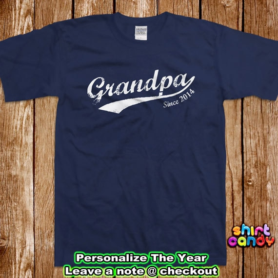 Grandpa t shirt father 39 s day custom with any year gift for for Custom t shirts personalized gifts