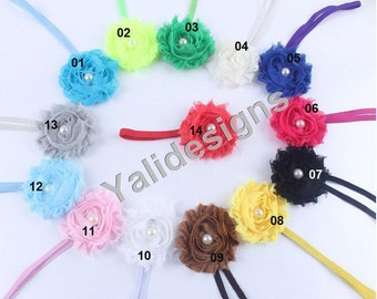 U Pick Wholesales Shabby Pearl Flower Headband Baby Headbands. Newborns Headbands. Girl's Headband YTH05