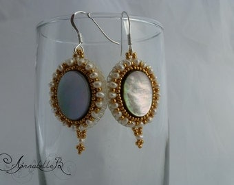 """Embroidered earrings """"Renaissance"""""""