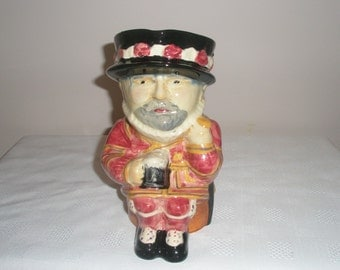 Character Jug of a Beefeater made by Shorter & Son Handpainted