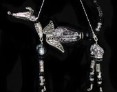 Greyhound Whippet Sighthound Winged Black Hound Ornament
