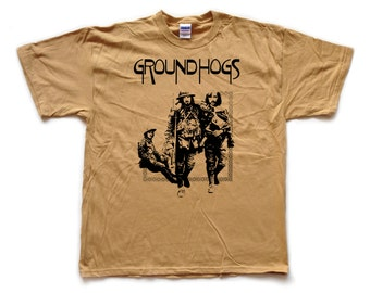 GROUNDHOGS - Thank Christ for the Bomb - screenprinted T SHIRT