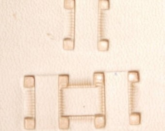 "Basketweave Stamp Tool X517 Impression Size 3/8"" (9.5 mm) US Stamps"