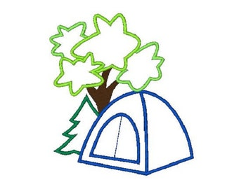 Camping Applique Machine Embroidery Design, Camping Design,Camping Applique, 4X4 5X7 6X10, Instant download