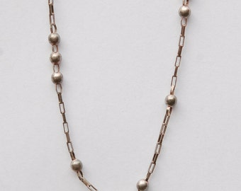 Fine Silver beaded Chain