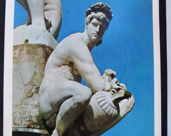 book artistic images-art book vintage-master of Italian painting-oil paintings on canvas-Giambologna sculptor 1500