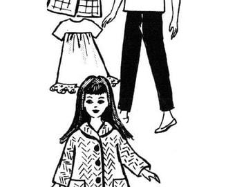 Little Sister Wardrobe Pattern for 9 inch Skipper or Pepper Dolls