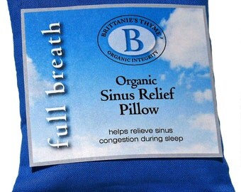 Organic Sinus Relief Pillow, USDA Certified Organic, Use In Pillow Case