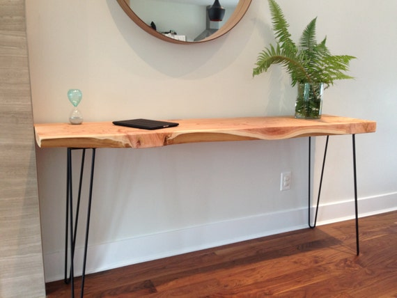 Foyer Plant Stand : Items similar to console table wood desk plant stand