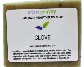 Clove handmade soap - natural clove soap - mens favorite soap with clove essential oil and powdered clove