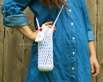 Water Bottle Carrier // Sash with Lip Balm Case