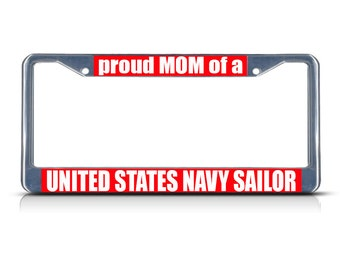Proud Mom Of A United States Navy Sailor Black Amp Chrome
