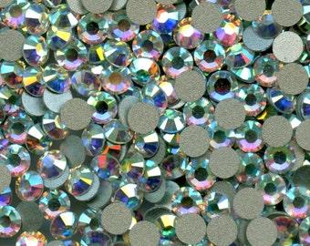 2058 SS7 CI ***40 Swarovski rhinestones flat back SS7 (2mm25) crystal ab