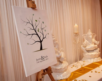 Wedding FIngerprint Tree Canvas