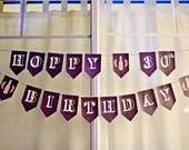 PRINTABLE Hoppy 30th Birthday Beer Party Banner PDF Instant Digital Download