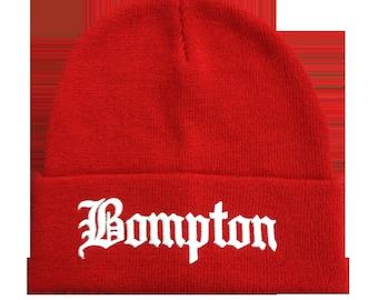 Red Bompton Beanie