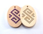 Cross stitch blanks / unfinished wooden supply for stitch / cross stitching etnographics ornament