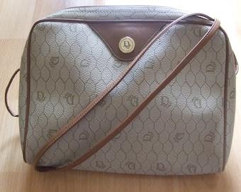 Authentic Vintage Rare Christian Dior Logos Shoulder Bag Beige FRANCE