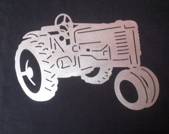 Farm Tractor Metal Wall Art Home Decor