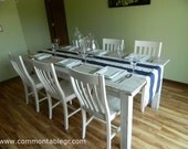 Items Similar To Whitewashed Farmhouse Table Rustic