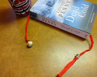 Beaded Crochet Book Mark