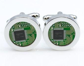 Cufflinks Computer Circuit Board cufflink Computer Circuit Board Cufflinks men accessories cuff links