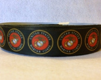 1 Inch U.S. Marine Corps Grosgrain Ribbon