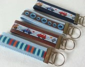 key chains/ keyrings boys gift, different colors and ribbons