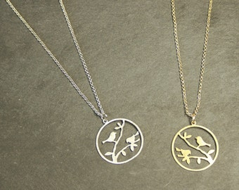 Birdy  Gold / Rhodium  Plated Necklace