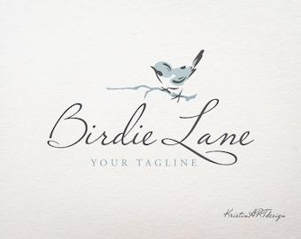 Bird logo, Light blue Logo, Photography logo, Premade logo, Watermark 117