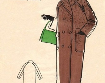 Les Patrons Marie Claire 4951 Double Breasted Coat 1950's / UNCUT FF