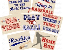 BASEBALL Birthday Signs - INSTANT DOWNLOAD