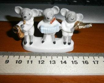 mice music.porcelain.little mice concert porcelain.