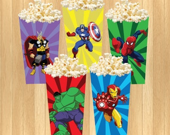 INSTANT DOWNLOAD - The Avengers Popcorn Box