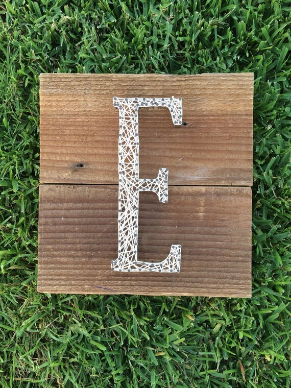 Single Letter - Square- Made to Order - Name or Word - Nail and String Art - Custom