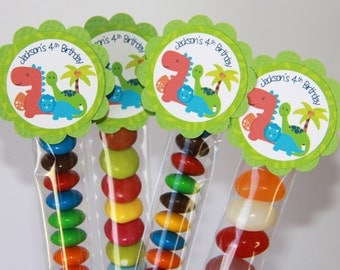 Dinosaur Lolly Tube Candy Favour