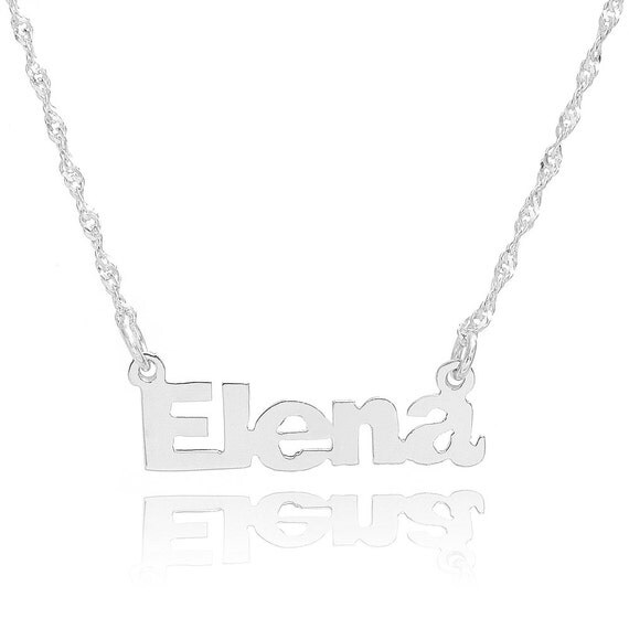 14k white gold personalized name necklace custom made