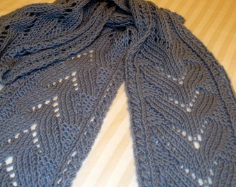 PDF Knitting Pattern for Lace Ripple and Wave Scarf