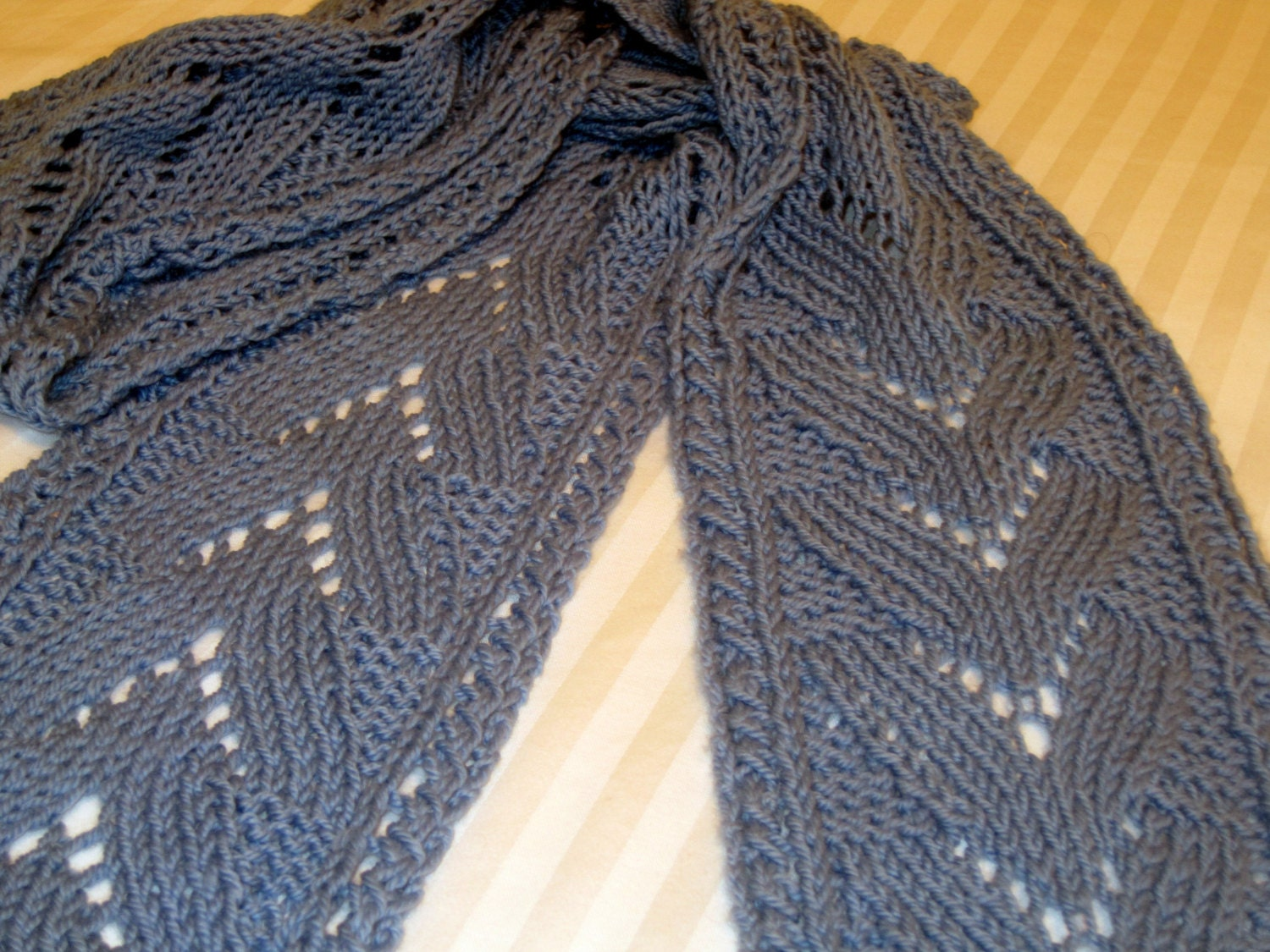 Ripple Stitch Knitting Pattern Scarf : PDF Knitting Pattern for Lace Ripple and Wave Scarf