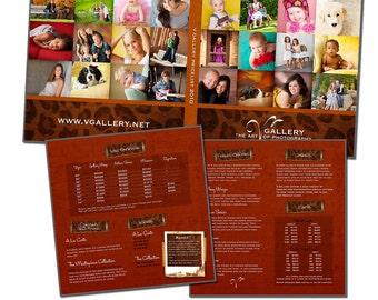 8x8 Image Folio Template - Studio Pricelist - Digital File