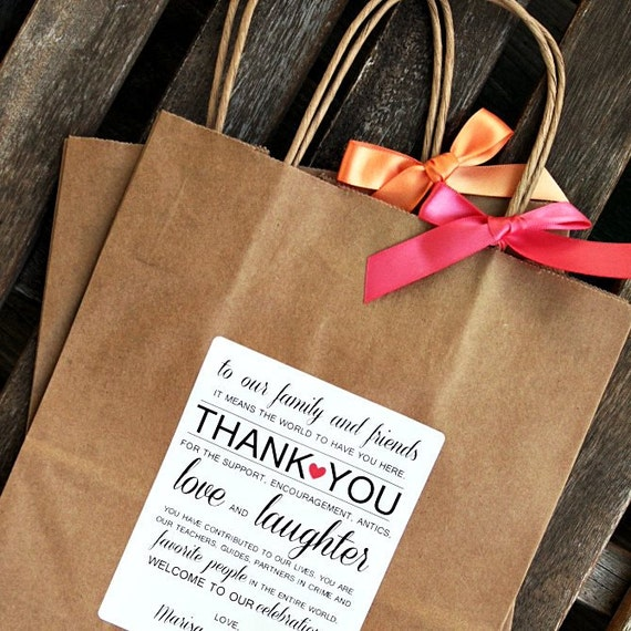 Unique Wedding Welcome Bag Ideas: Personalized Thank You Wedding Welcome Bag