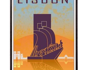 Lisbon vintage style poster- SKU 0919