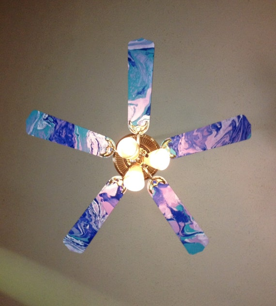 Items similar to hand painted ceiling fan blades on etsy aloadofball Images