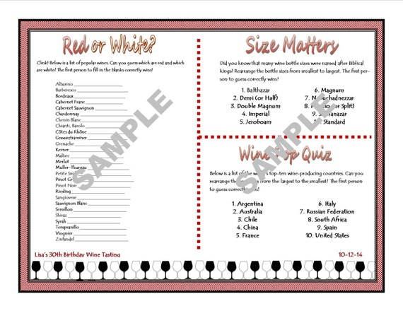 It's just a picture of Luscious Wine Tasting Games Printable