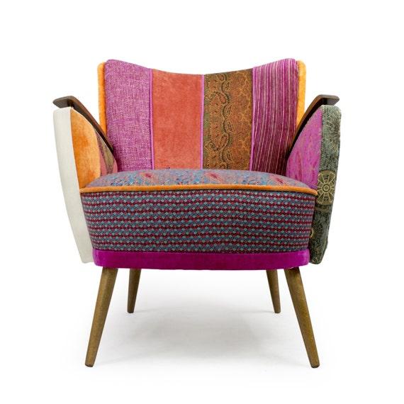 Mid Century Modern Armchairs: Danish Mid-century Modern Patchwork Armchair Mañana